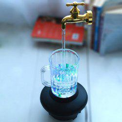 Novelty Magic Fountain Faucet Impending Tap with Flashing LED Light -