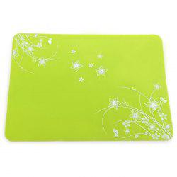 Practical Silicone Placemats Insulated Western Food Mat Home / Restaurant Usage - GREEN