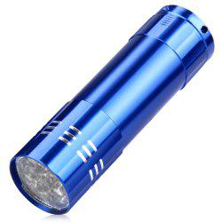 Mini 9 LED UV Ultraviolet Torch 395nm Flashlight Blacklight - BLUE