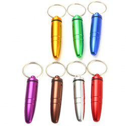 Water Resistant Aluminum Alloy Pill Box with Bullet Shape
