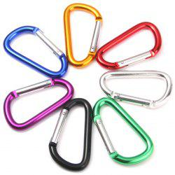 7.5cm D-shape Carabiner Aluminum Alloy Made for Mountaineering - RANDOM COLOR