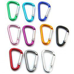 D-shaped Aluminum Alloy Carabiner with Anti-rusted Function -