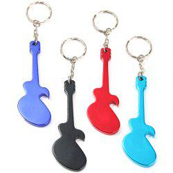Guitar-shaped Bottle Opener Aluminum Alloy Made - RANDOM COLOR