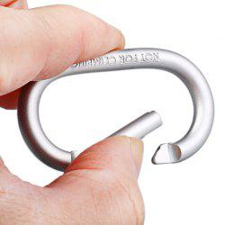 Medium Size Racetrack Shaped Carabiner Anodized Surface - SILVER