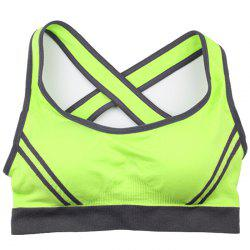 Traceless Yoga Bra Shockproof Striped Sports Bra