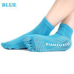 Women Anti-slip Yoga Toe Socks with Strong Moisture Absorption - BLUE