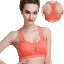 Seamless Adjustable Shoulder Strap Yoga Push Up Bra