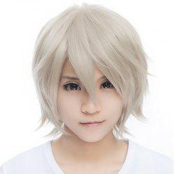 Outstanding Fluffy Straight Vogue Short Haircut Synthetic Miketsukami Soushi Cosplay Wig - SILVER GRAY