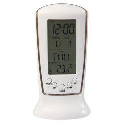 LED Digital Backlight Alarm Clock Music Calendar Thermometer Desktop Decoration