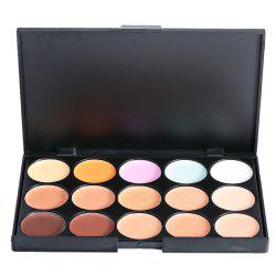 15 Colors Matte Concealer Camouflage Makeup Palette - AS THE PICTURE