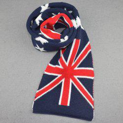 Stylish Five-Pointed Star and Union Flag Pattern Winter Scarf For Kids -