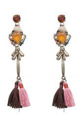 Pair of Tassel Pendant Jewelry Earrings -