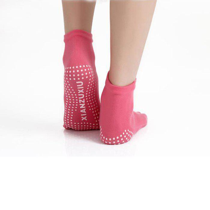 Women Anti-slip Yoga Toe Socks with Strong Moisture AbsorptionHOME<br><br>Color: RED; Gender: Women; Size: One Size; Features: Skid Resistance,Anti Sweat,Five Toes; Material: Cotton; Color: Black,Red,Blue,Purple,Grey;