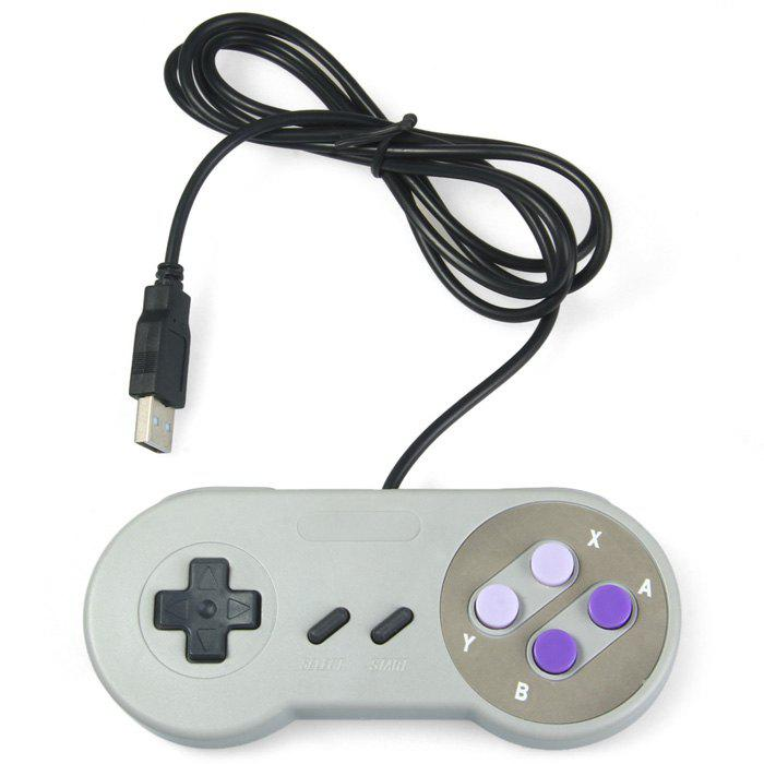 Shop Classic USB Controller with A / B / X / Y Function Button for SNES