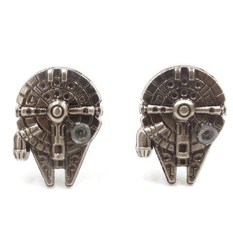 Shop Pair of Stylish Movie Star Wars Spaceship Shape Cufflinks For Men