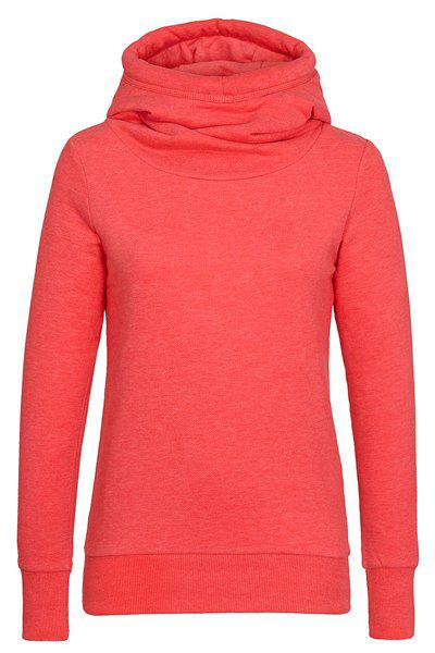 Outfit Simple Hooded Long Sleeve Solid Color Slimming Women's Hoodie
