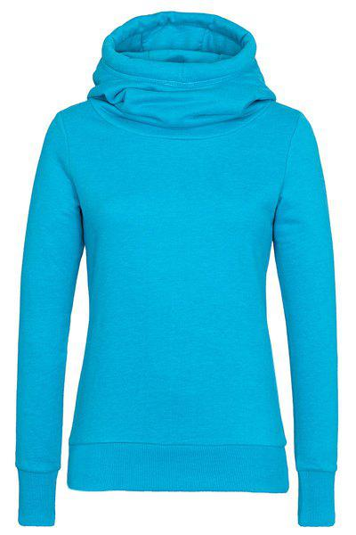 Sale Simple Hooded Long Sleeve Solid Color Slimming Women's Hoodie