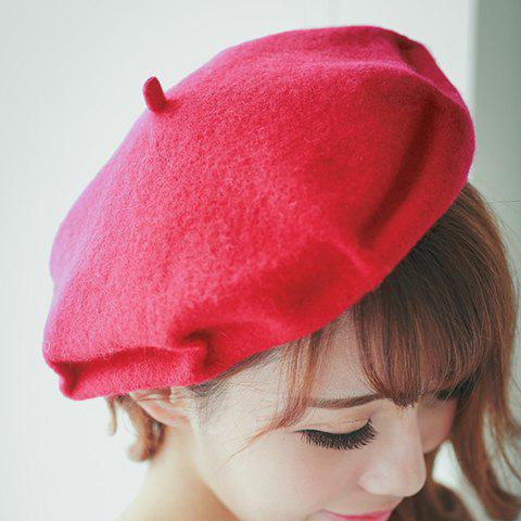 Online Chic Pleated Fresh Color Felt Beret For Women