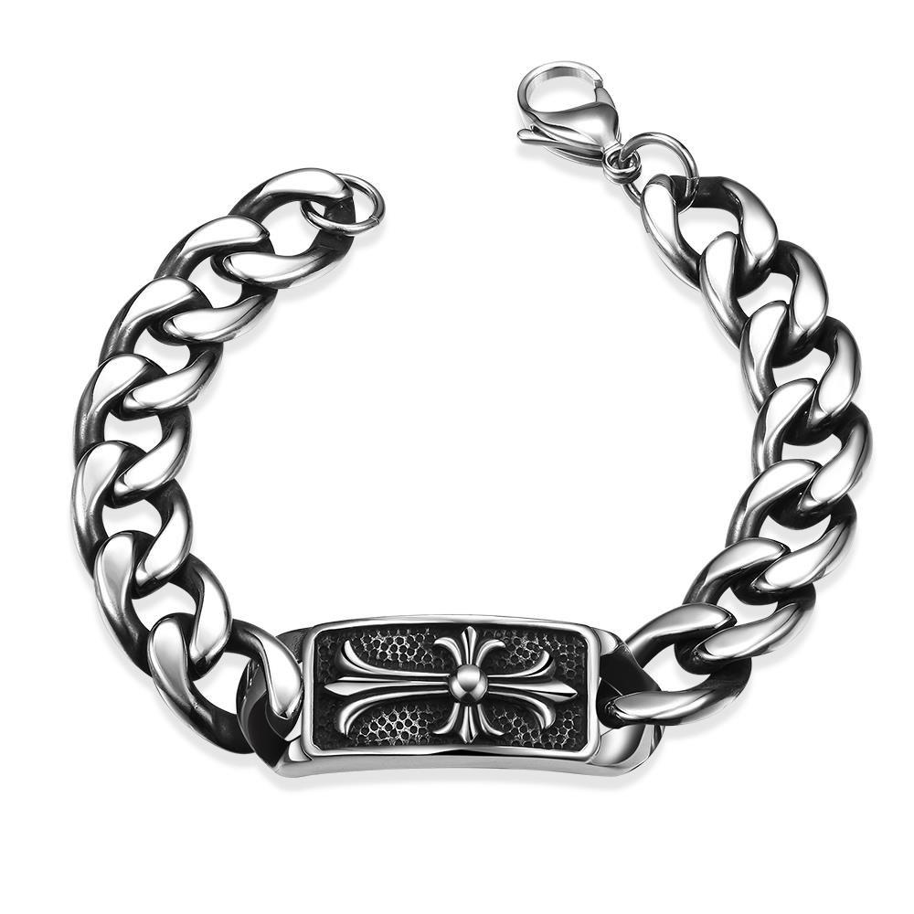 Sale Fashion Old Classical Style 316L Stainless Steel Bracelet for Men H017