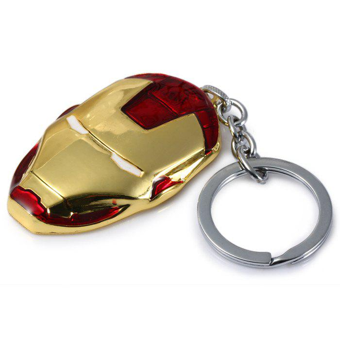 Portable The Avengers-Iron Man Style Metal Key Chain Cool PropsHOME<br><br>Color: GOLD; Type: Key Chain; Material: Alloy,Metal; Product weight: 0.0320 kg; Package weight: 0.0690 kg; Product size (L x W x H): 12.70 x 3.80 x 0.90 cm / 5 x 1.5 x 0.35 inches; Package size (L x W x H): 16.60 x 8.00 x 2.20 cm / 6.54 x 3.15 x 0.87 inches; Package Contents: 1 x Key Chain;