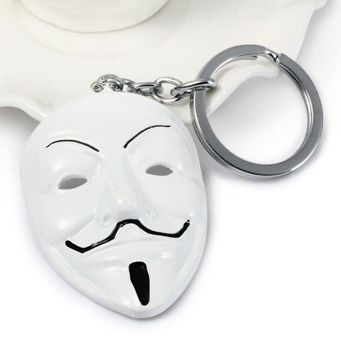 Cheap Portable V for Vendetta Mask Designed Metal Key Chain Cool Props