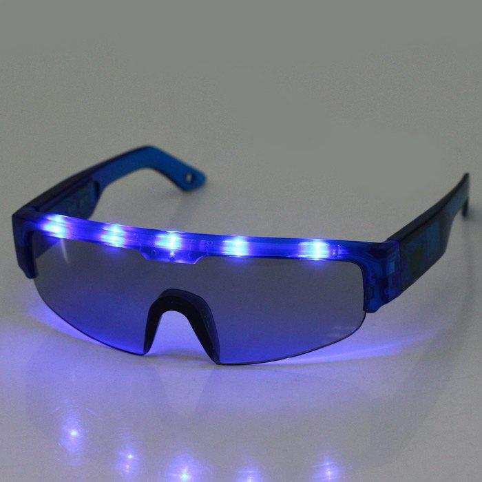 5 Light Cool DJ Style Flashing LED Glasses for Christmas Party DecorationsHOME<br><br>Color: BLUE; Material: Plastic; For: Student,Friends,Brothers,Sisters,All; Usage: Stage,Halloween,Birthday,Christmas,New Year,Performance,Party; Color: Red,Blue,Green;