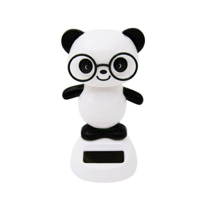 Solar Energy Shaking Panda House Decoration Christmas GiftHOME<br><br>Color: WHITE AND BLACK; Type: Solar Toy; Age: Above 3 Years; Material: ABS;