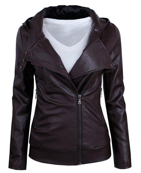 Cheap Long Sleeve PU Leather Jacket