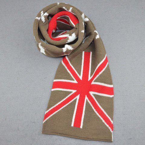 Fancy Stylish Five-Pointed Star and Union Flag Pattern Winter Scarf For Kids