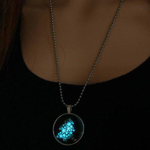 Trendy Chic Luminous Christmas Tree Pendant Necklace Jewelry For Women