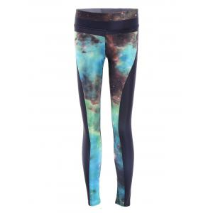 Galaxy High Stretchy Running Leggings - Colormix - One Size(fit Size Xs To M)