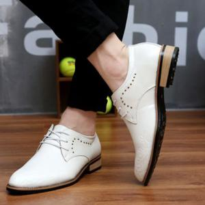 Fashionable Metal and Embossing Design Men's Formal Shoes -