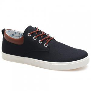 Simple Canvas and Criss-Cross Design Men's Casual Shoes