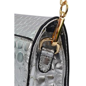 Gorgeous Metal and Rhinestone Design Women's Evening Bag - SILVER