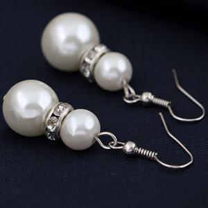 A Suit of Chic Faux Pearl Necklace Earrings and Bracelet For Women -