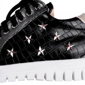 Stylish Stone Pattern and Pentagrams Design Women's Athletic Shoes -