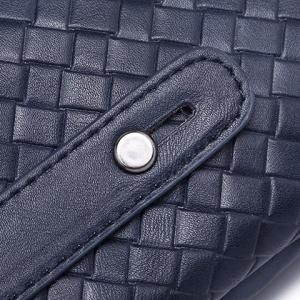 Stylish Weaving and PU Leather Design Men's Clutch Bag -