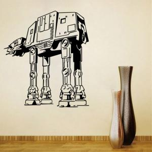 w-29 AT-AT Walker Style Removable Wall Sticker Water Resistant Home Art Decals -