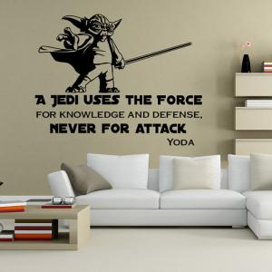 w-23 YODA Style Removable Wall Sticker Water Resistant Home Art Decals