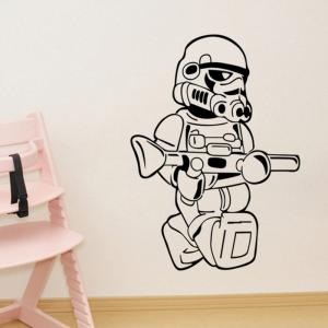 w-21 Stormtrooper Logo Style Removable Wall Sticker Water Resistant Home Art Decals - BLACK