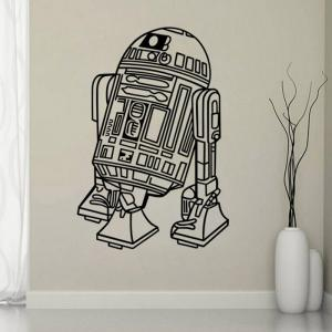 w-26 Robot Style Removable Wall Sticker Water Resistant Home Art Decals -