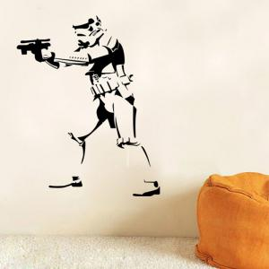 w-27 Stormtrooper Style Removable Wall Sticker Water Resistant Home Art Decals -