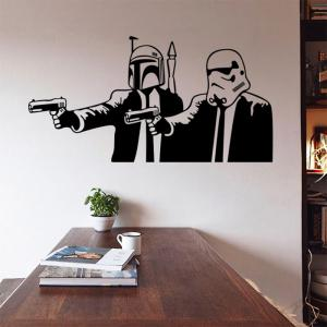 w-10 Meets Pulp Fiction Style Removable Wall Sticker Water Resistant Home Art Decals -