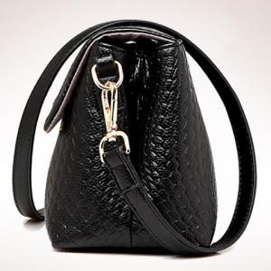 Fashion Solid Colour and Embossing Design Women's Shoulder Bag -