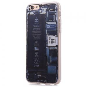 Battery Pattern TPU Material Protective Back Case for iPhone 6 / 6S -