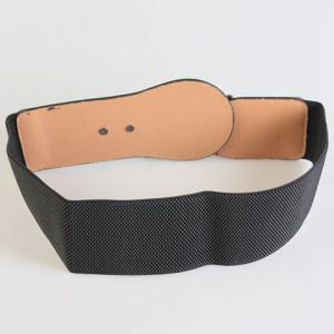 Chic Alloy Hasp Solid Color Elastic Waistband For Women -