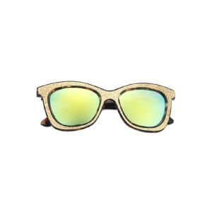 Chic Leopard Glitter Powder Frame Sunglasses For Women -