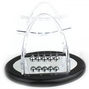 Newton Cradle Balance Ball with Reflection Mirror Science Toy for Office Decoration -