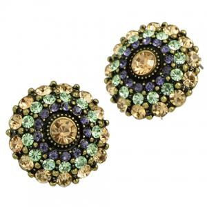 Pair of Graceful Rhinestoned Blossom Earrings For Women -