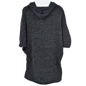 Casual Hooded Solid Color Batwing Sleeve Hoodie For Women -